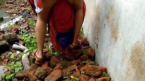 Devar Outdoor Having it away Indian Bhabhi In Abandoned House Ricky Public Sex